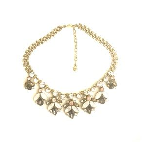 Glam Statement Necklace with Rhinestones